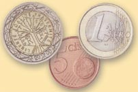 Photo of euro coins